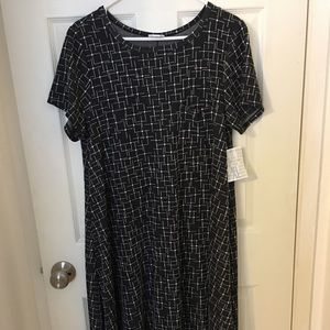NEW LuLaRoe Carly dress - XL - Black/White